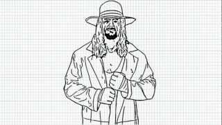The Undertaker - How to draw Undertaker - Video - The Deadman from WWE