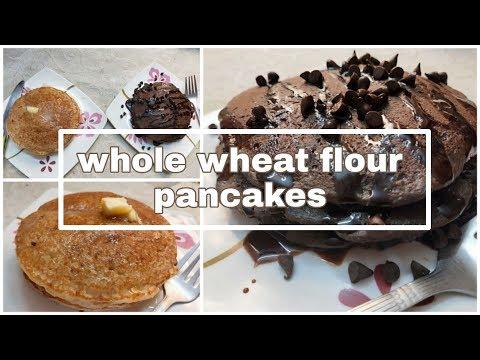 Whole Wheat Flour Pancakes |plain And Chocolate Pancakes |