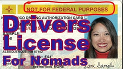 How to get a Real ID Drivers License  for Nomads