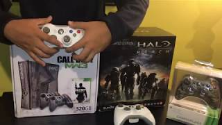 Limited edition Xbox 360 Console unboxing! Video game pick ups! Collecting for Xbox 360