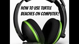 how to use turtle beach xl1 on pc