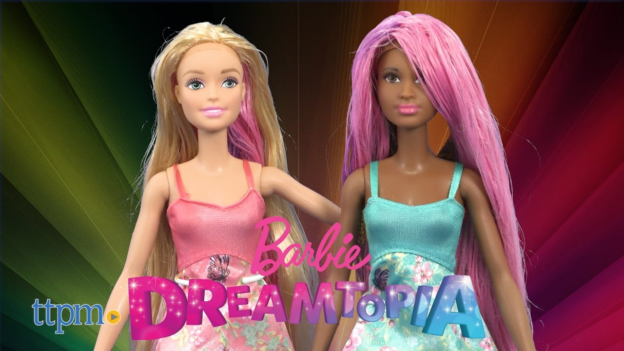 Barbie Dreamtopia Color Stylin\' Princess Dolls from Mattel - YouTube