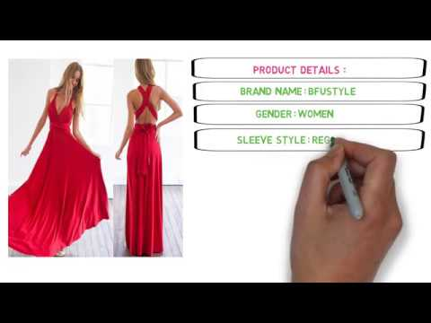 ff4ecf31604f New Affordable Sexy Women Multiway Convertible Wrap Maxi Club Red Dress  Bandage Long Party Dress