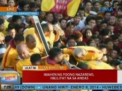 UB: Ivan Mayrina, sasampa sa andas ng Poong Nazareno