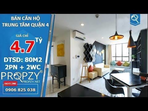 Bán căn hộ 80m2 The Icon 56 quận 4, thiết kế 2 phòng ngủ 2wc đầy đủ tiện nghi | Propzy
