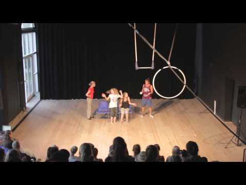 Circus group performance, Youth Exchange, Denmark, 2014