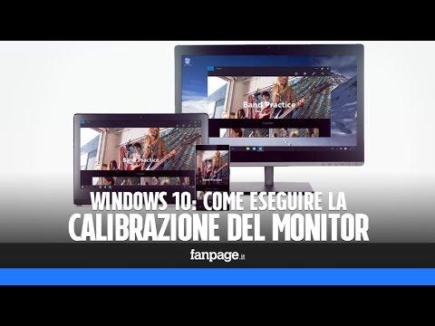 Come calibrare il monitor di un PC Windows 10