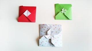 HD / TUTO: 2 façon de faire une enveloppe en origami - 2 ways to make a origami envelope