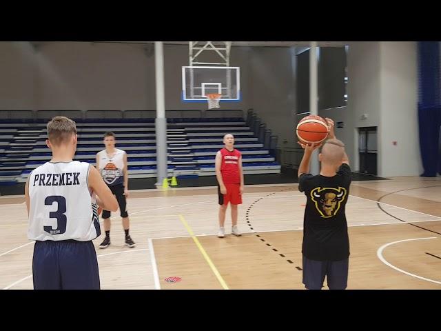 Obóz koszykarski Basketmania Camp - trening poranny 1.07.2019 - grupa 3