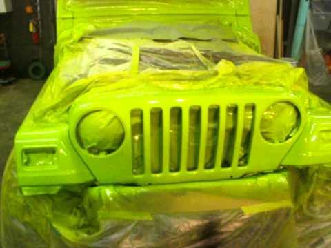 Jeep Wrangler Paint Job - YouTube