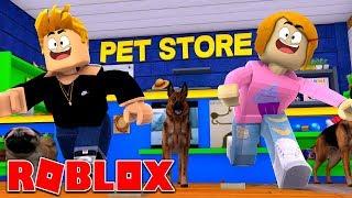 Roblox | Entfliehen Sie dem Pet Store Obby | 2 Spieler | Molly und Luke!