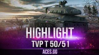Самый G0L0Dный Чех. TVP T 50/51  в World of Tanks!