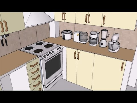 Tiny Space Saving Ideas - SKETCHUP Interior Design