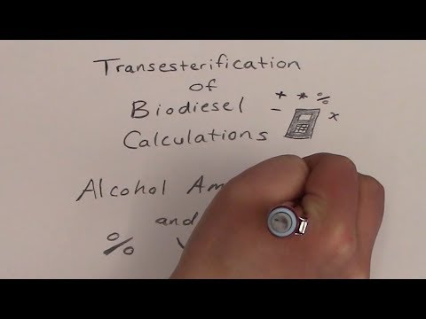 Transesterification Of Biodiesel Calculations: Methanol, Ethanol Amounts And % Yield