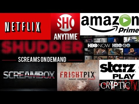 Which Streaming Service is the BEST for HORROR?  Netflix Amazon Shudder Screambox  FREE MOVIES