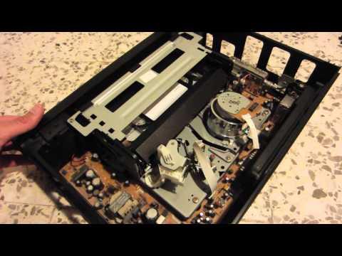 Repairing a Sharp videocassette recorder (stuck tape)