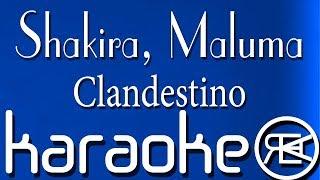 shakira maluma clandestino karaoke lyrics