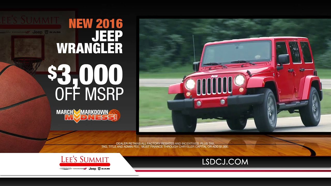 Lees Summit Jeep   2019 2020 New Car Release Lees Summit CJDR  March Markdown Madness