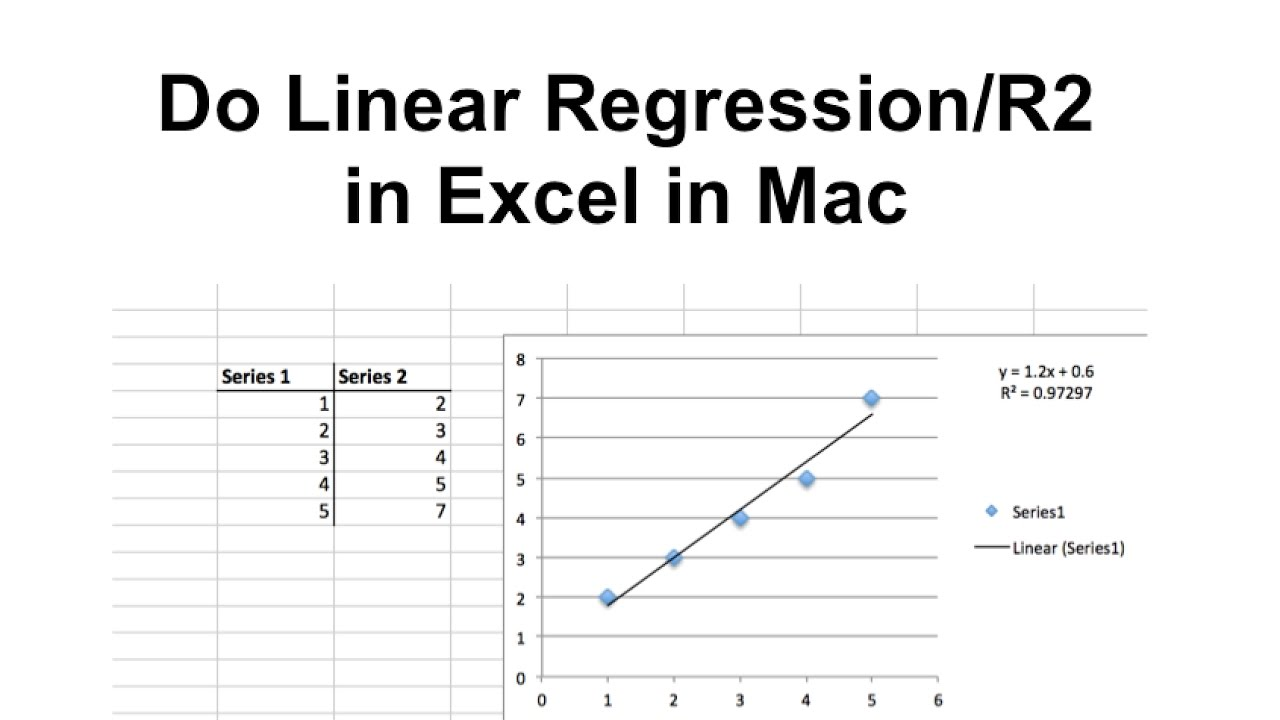 Linear regressionr2 value in excel in mac youtube linear regressionr2 value in excel in mac ccuart Images