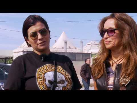 Moroccan Women in Harley Davidson group   Documentary