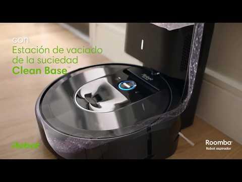 Robot aspirador iRobot Roomba® i7+ con Estación De Limpieza Automática Clean Base™