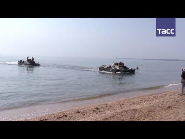 Форсирование Керченского пролива на БРДМ