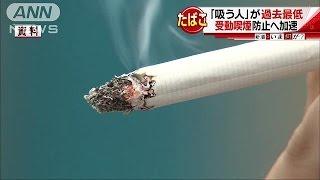 「吸う人」18%で過去最低・・・受動喫煙防止ロゴも(16/11/14)