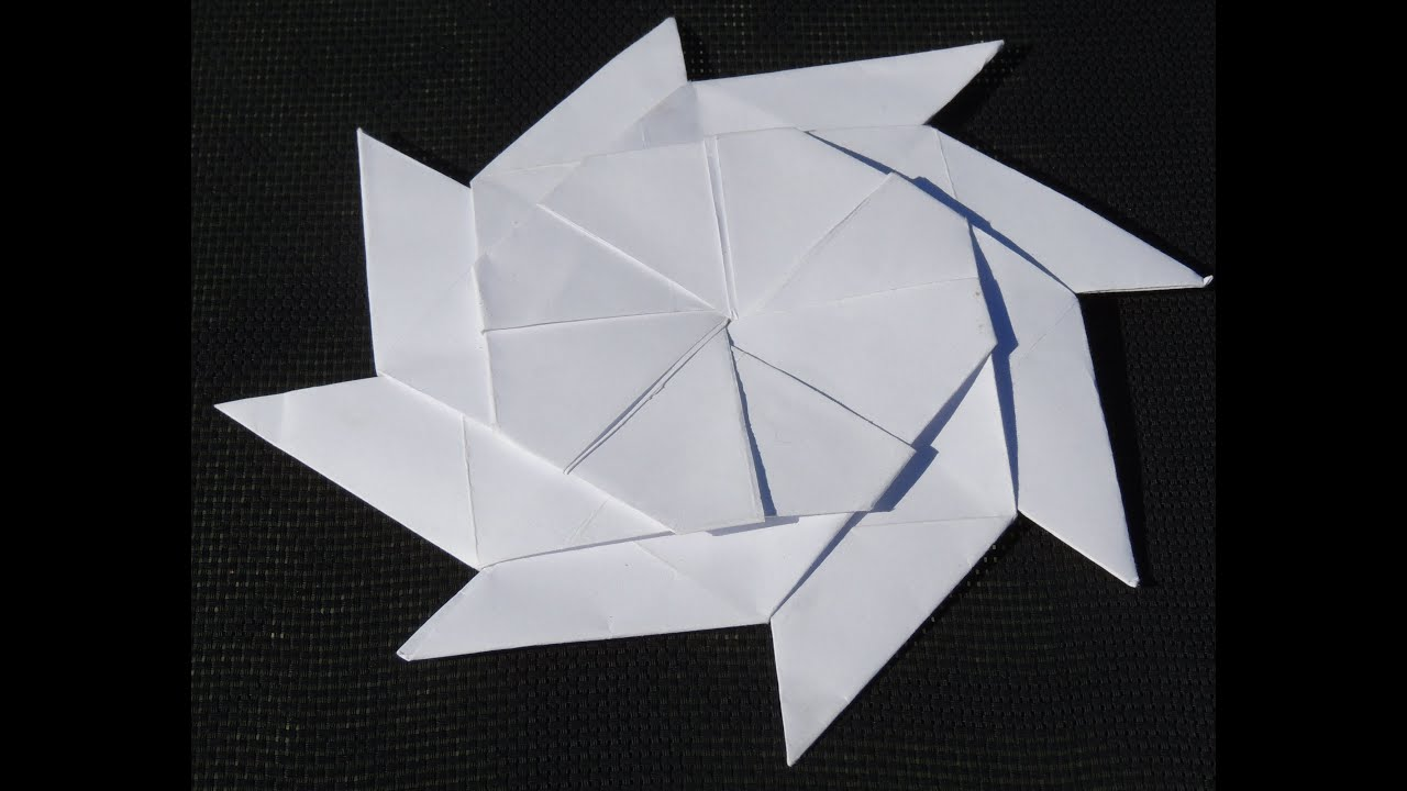 Origami 8 pointed transforming ninja star - YouTube - photo#21