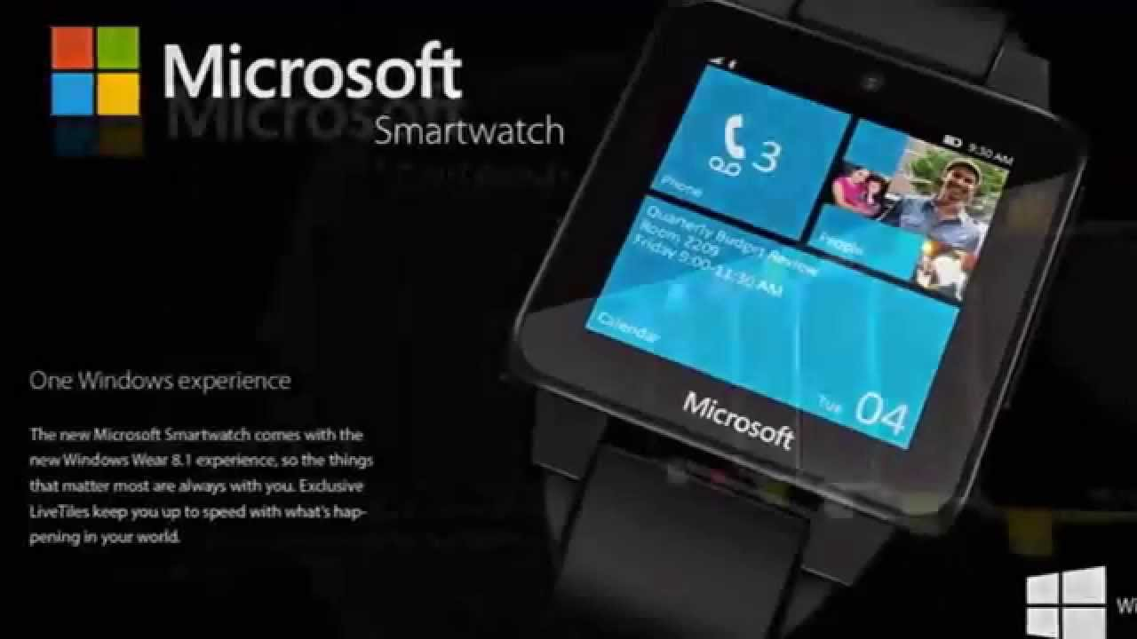 Microsoft Smartwatch 2015 with Windows 8.1 - YouTube