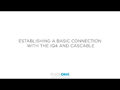 Support | Establishing a basic connection with Cascable and the IQ4 Digital Back | Phase One