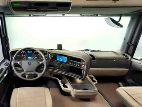 Scania euro youtube for Camion americain interieur cabine