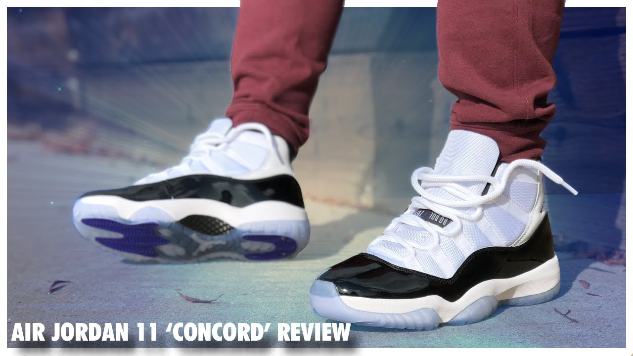 52e18d0931ff Air Jordan 11  Concord  2018 Review - YouTube