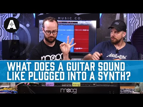 What Does a Guitar Sound Like Plugged Into a Synth? - Moog Matriarch