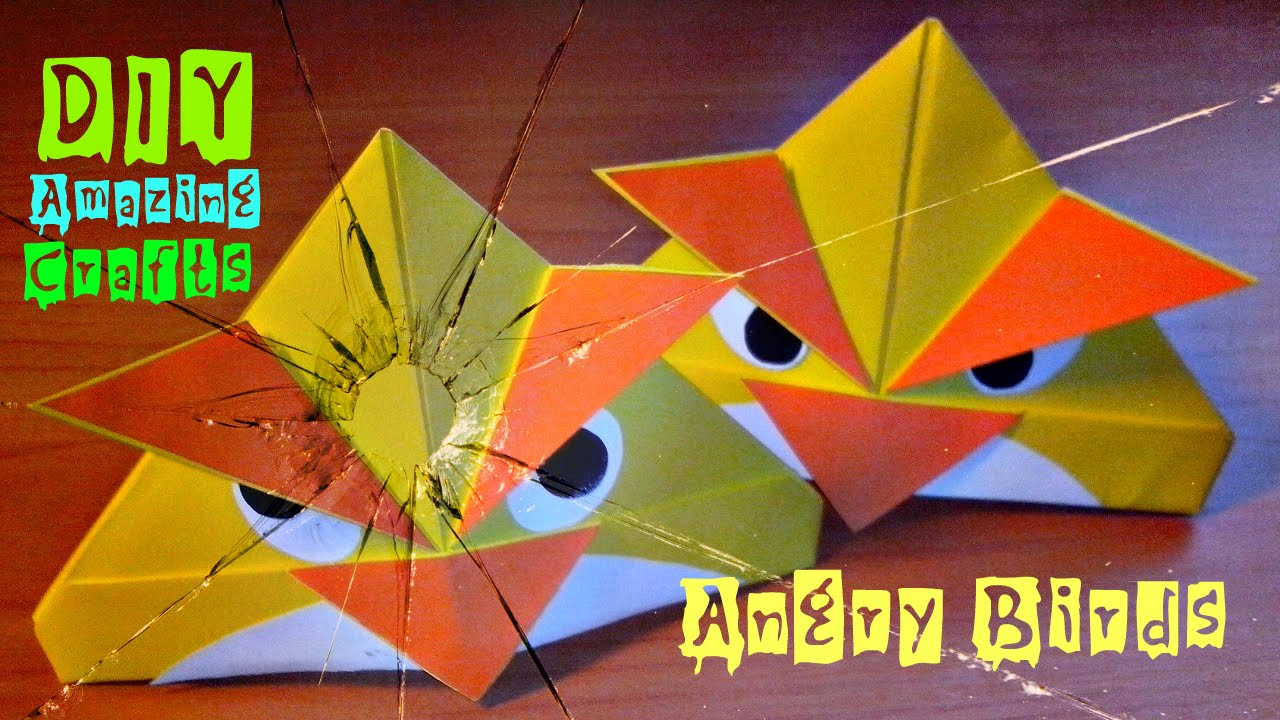 DIY How To Make Origami ANGRY BIRDS Funny 3D Crafts Easy Tutorial For Children And Beginners