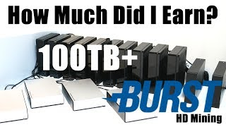 How Much Did I Earn? 100TB+ Burstcoin HardDrive Mining Rig