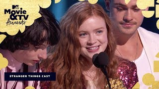 The 'Stranger Things 2' Cast Accepts the Award for Best Show   2018 MTV Movie & TV Awards
