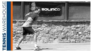 Mike Bryan and Solinco at Tennis Warehouse