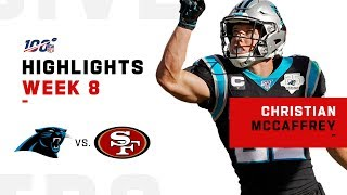 Christian McCaffrey Powers Through w/ 155 Total Yards | NFL 2019 Highlights