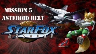 Star Fox: Assault - Mission 5 - Asteroid Belt - The Aparoid Menace