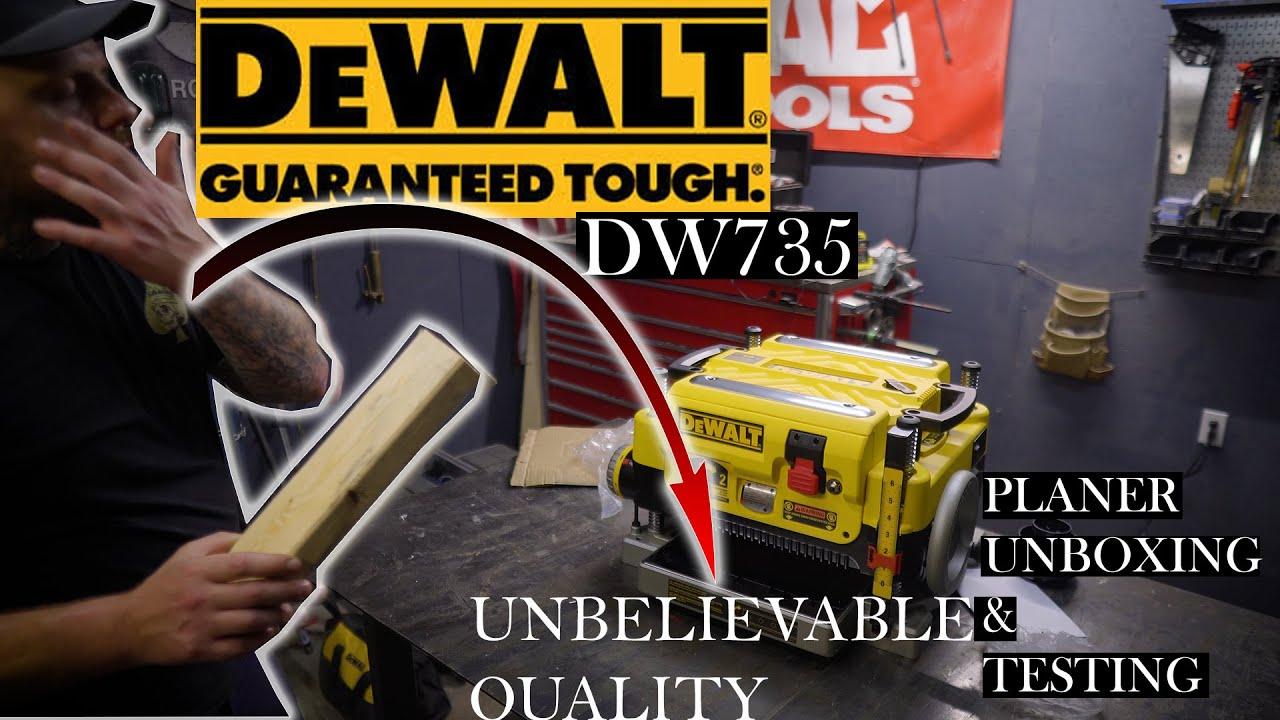 Dewalt DW735 Planer Unboxing