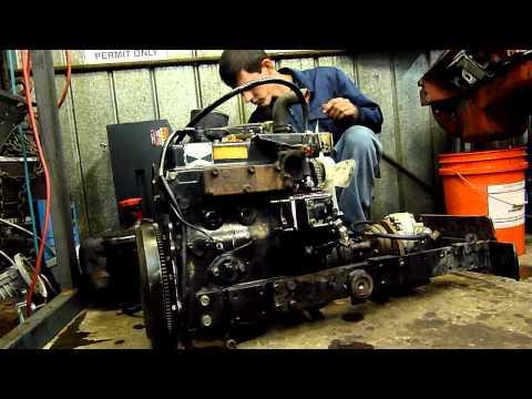 18Hp 3 Cylinder Yanmar Diesel Start Up