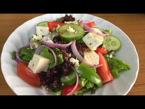 Simply Green Salad | Tasty Green Salad Recipe | Mix Green Salad | Cucumber Salad
