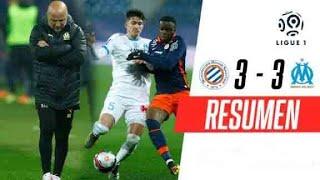 ¡AL EQUIPO DE SAMPAOLI SE LO EMPATARON EN LA ÚLTIMA!   Montpellier 3-3 Marsella   RESUMEN