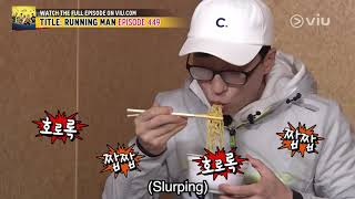 When food is LIFE (Running Man EP 449 w/ Eng Subs)