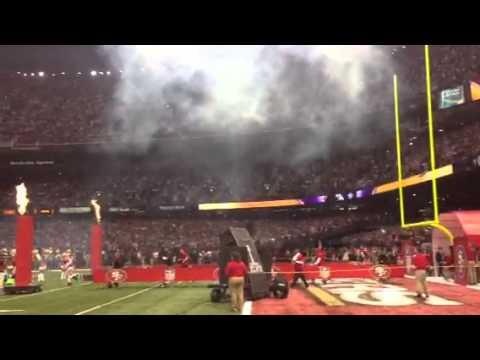 Superbowl XLVII 49ers entrance