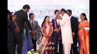 Video Superstar Rajinikanth, Vijay Visit at Vishal Sister Aishwarya Wedding Reception