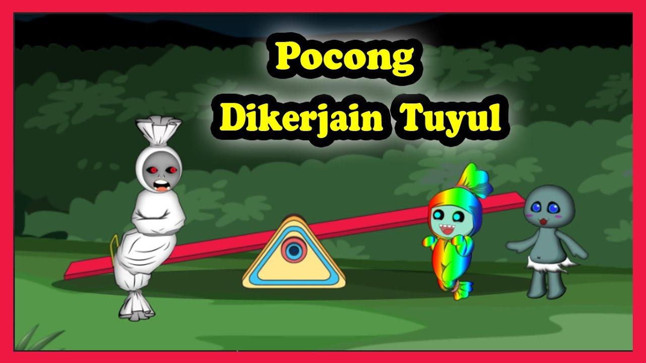 Pocong Jungkat Jungkit Dikerjain Tuyul | Kartun Hantu Horor Lucu | Prank Pocong
