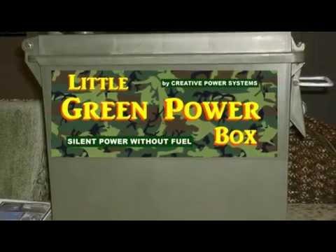 Little Green Power Box - Portable Solar Power