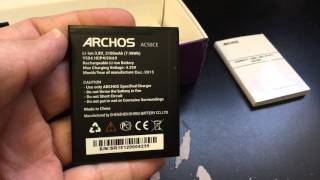 aRCHOS 50 CESIUM DUAL SIM Unboxing Video  in Stock at www.welectronics.com