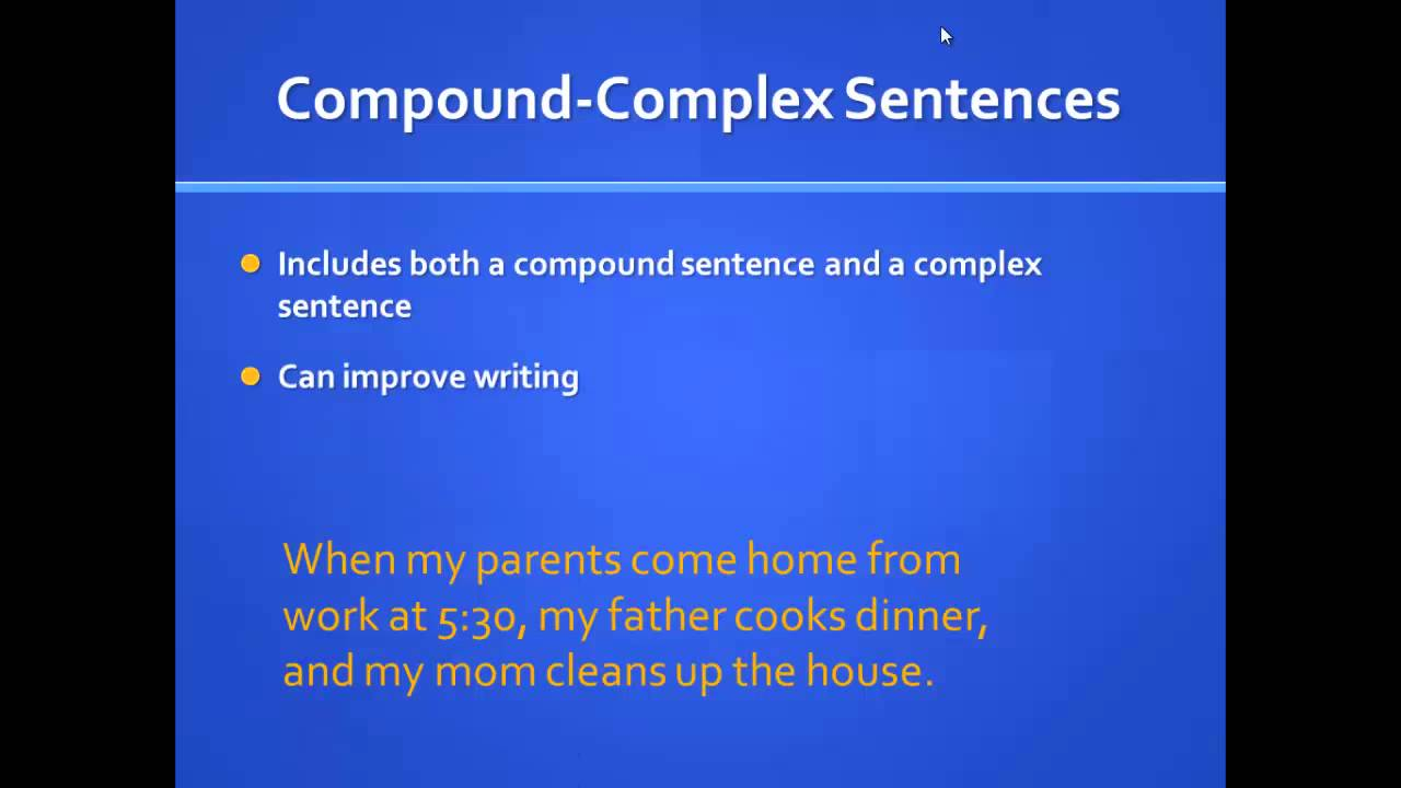 compound complex sentence lessons tes teach
